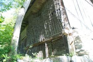 Grange mur tressé
