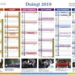Calendrier 2019 de la mairie ...